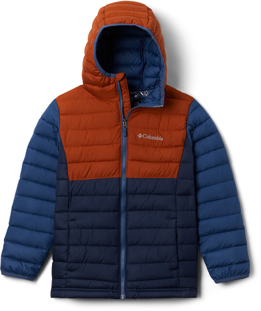 Columbia Powder Lite Kapuzenjacke Jungen collegiate navydark adobenight tide